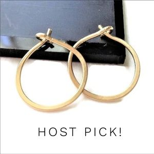 "1/2"" Hoops -Silver, Gold, or Rose Gold"